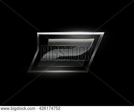 Carbon Speed Letter Z, Dark Matte Metal Carbon Texture. Drive Dynamic Steel Letter, Turbo Bold Itali
