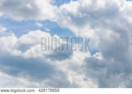 Beautiful Sparse Clouds In The Blue Sky.cloudscape. Blue Sky And White Cloud. Sunny Day. Blue Sky Ba
