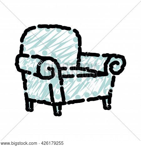 Modern Colorful Soft Armchair With Upholstery. Armchairs For Room Design Games. Cushioned Furniture,