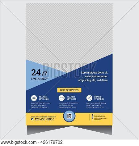 Promotional Blue Creative Medical Flyer Design Template
