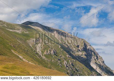 Panoramic View Of Peak Of Monte Vettore View From Forca Di Presta