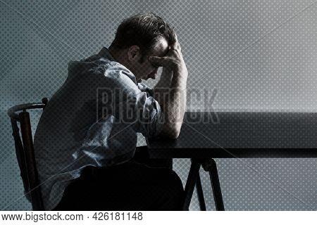 Man losing his job due to COVID-19 financial impact