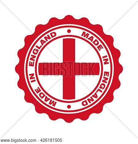 Print With Flag Of England And  Text