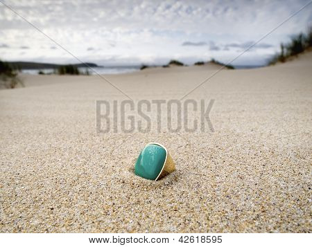 Lost Ring On The Beach