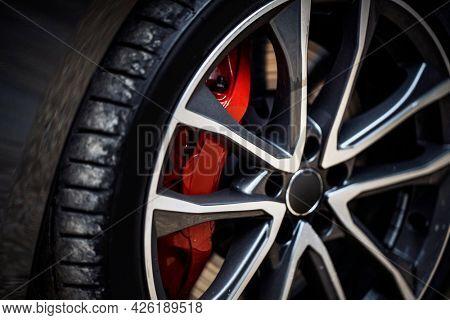 Closeup of alloy max wheel