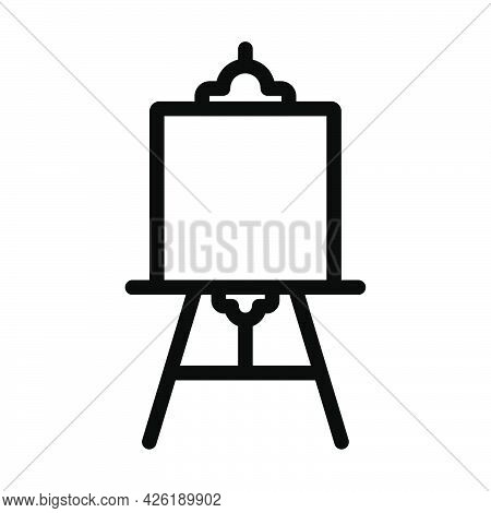 Easel Icon. Bold Outline Design With Editable Stroke Width. Vector Illustration.