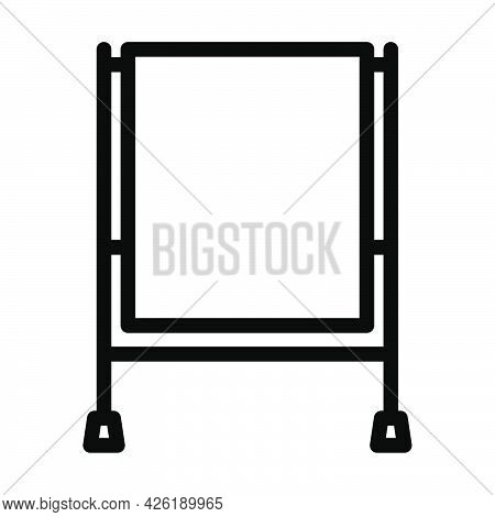 Icon Of Table For Object Photography. Bold Outline Design With Editable Stroke Width. Vector Illustr