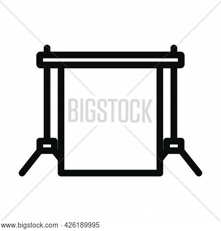 Icon Of Studio Photo Background. Bold Outline Design With Editable Stroke Width. Vector Illustration