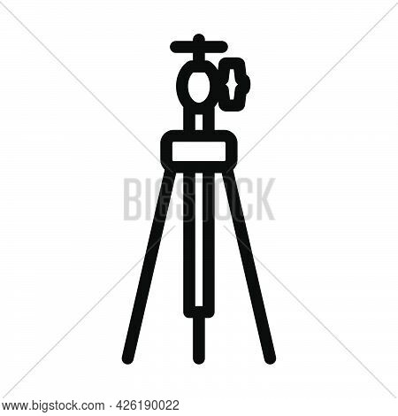 Icon Of Photo Tripod. Bold Outline Design With Editable Stroke Width. Vector Illustration.