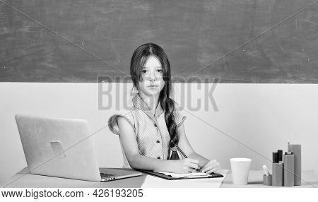 My Working Place. 4g Internet For Weblog. Childhood Study Online. Knowledge Day. Smart School Girl I