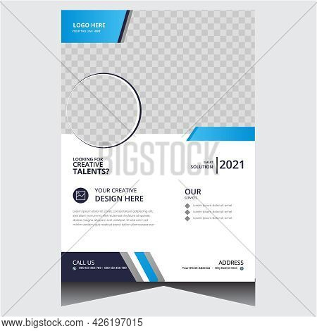Blue And White Creative Modern Corporate Business Flyer Design Template