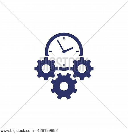 Efficiency And Efficient Process Icon On White