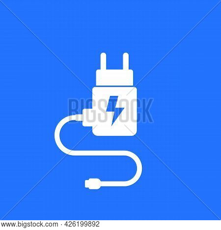 Mobile Charger For Smart Phone Vector Icon