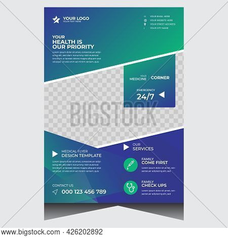 Creative Promotional Health Medical Flyer Design Template For Covid - 19