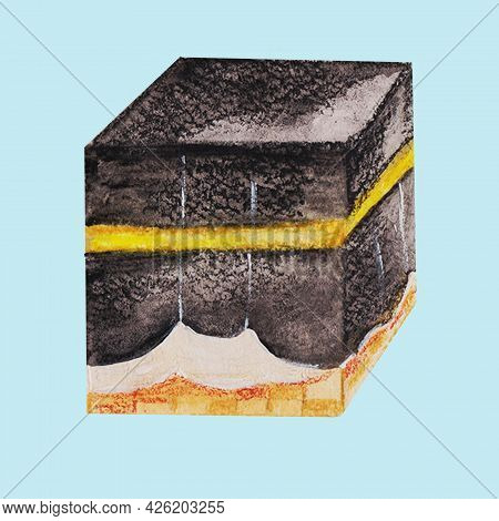 Kaaba Is A Sacred Place Of All Muslims Of The Earth, A Place Of Worship Of The Lord, Hajj Duty, In T