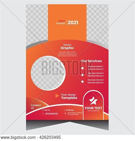 Red And Orange Creative Company Business Flyer Design Template