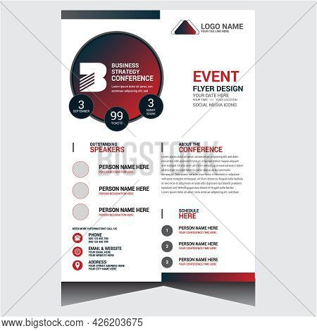 Special Corporate Business Event Flyer Design Template