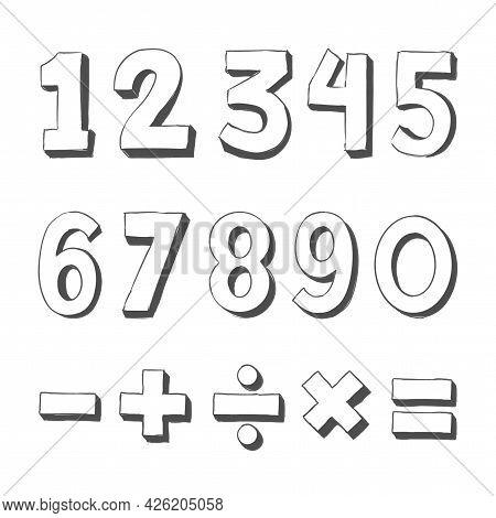Number Doodles - Vector