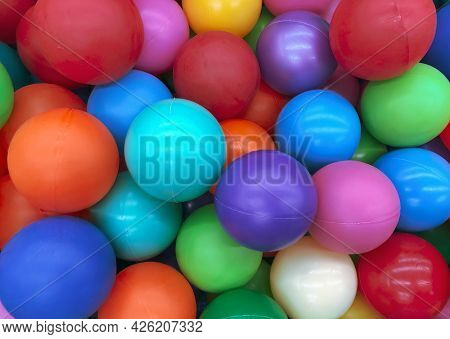 Bright Multi-colored Balls For The Pool For Childrens Games.toys For Children, Entertainment For Kid