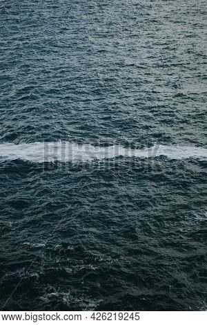 Froth line on the ocean