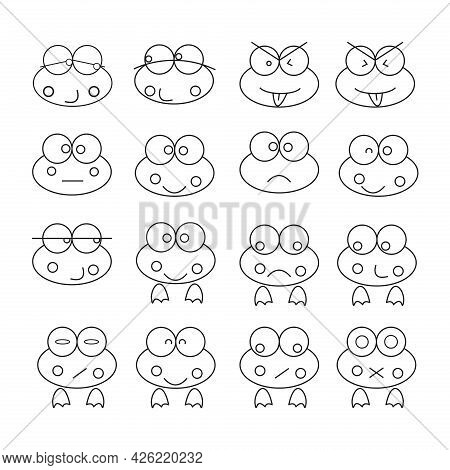 Frog Icon Vector. Frog Icon Design Can Be Used For Icon Logos, Applications And Others