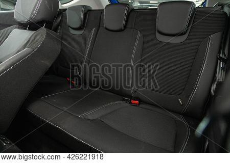 Novosibirsk, Russia - June 29, 2021: Renault Kapture, Interior Design, Car Passenger And Driver Seat