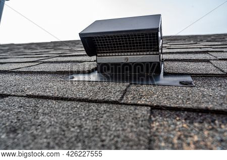 Static Vent Installed On A Shingle Roof For Passive Attic Ventilation
