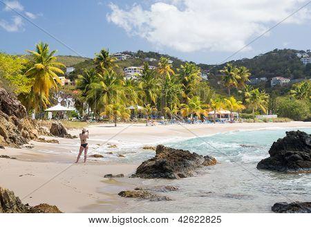 Beach Scene St Thomas Usvi