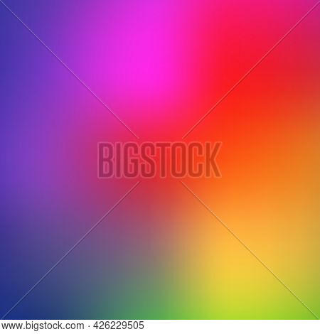Trendy Abstract Rainbow Blurred Background. Smooth Watercolor Vector Illustration For Web, Template,