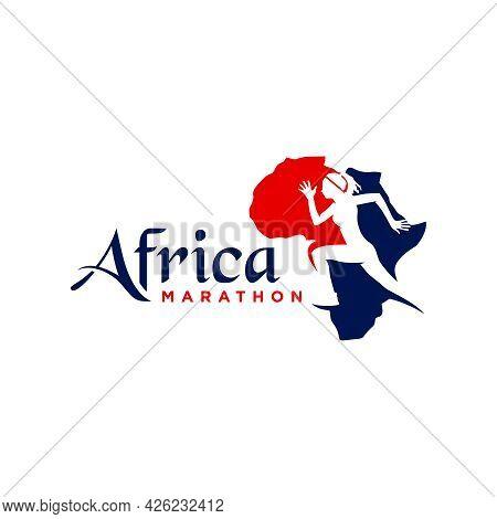 Marathon Running Sports Logo Design In Africa