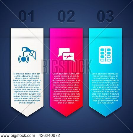 Set Hypnosis, No Smoking And Nicotine Gum Blister Pack. Business Infographic Template. Vector