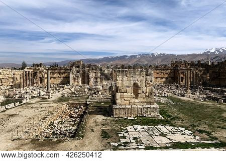 The Old Ruins Of Temples In Baalbeck, Lebanon
