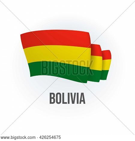 Vector Flag Of Bolivia. Bolivian Waving Flag. Vector Illustration.