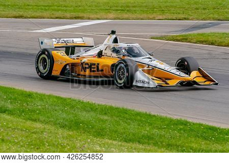 July 02, 2021 - Lexington, Ohio, USA: JOSEF NEWGARDEN (2) of the United States practices for the Honda Indy 200 at Mid-Ohio at Mid Ohio Sports Car Course in Lexington, Ohio.