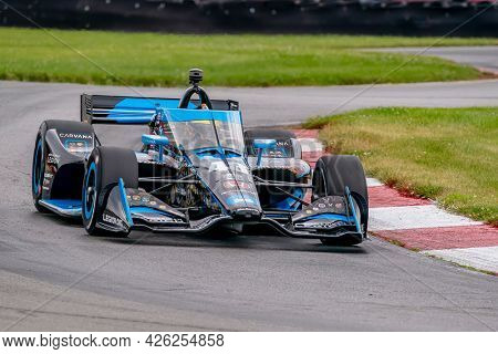 July 02, 2021 - Lexington, Ohio, USA: JIMMIE JOHNSON (R) (48) of The United States practices for the Honda Indy 200 at Mid-Ohio at Mid Ohio Sports Car Course in Lexington, Ohio.