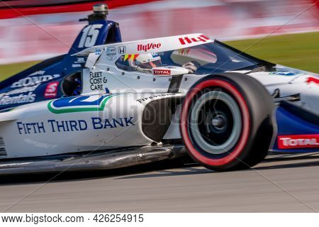 July 03, 2021 - Lexington, Ohio, USA: GRAHAM RAHAL (15) of the United States practices for the Honda Indy 200 at Mid-Ohio at Mid Ohio Sports Car Course in Lexington, Ohio.