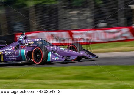 July 03, 2021 - Lexington, Ohio, USA: ROMAIN GROSJEAN (R) (51) of Geneva, Switzerland practices for the Honda Indy 200 at Mid-Ohio at Mid Ohio Sports Car Course in Lexington, Ohio.