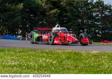 July 03, 2021 - Lexington, Ohio, USA: SANTINO FERRUCCI (45) of the United States practices for the Honda Indy 200 at Mid-Ohio at Mid Ohio Sports Car Course in Lexington, Ohio.