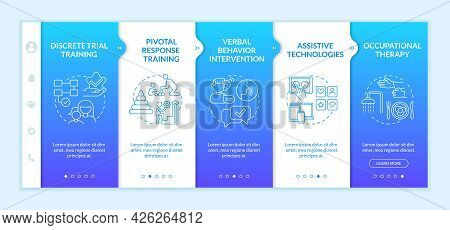 Asd Treatment Methods Onboarding Vector Template. Responsive Mobile Website With Icons. Web Page Wal