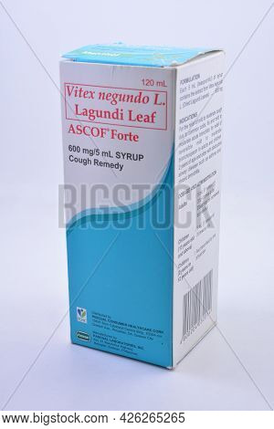 Manila, Ph - July 7 - Ascof Forte Syrup Cough Remedy On July 7, 2021 In Manila, Philippines.