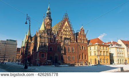 Wroclaw, Poland 14.02.2021 - Cathedral Of St. John The Baptist In Wroclaw, Poland
