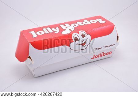 Manila, Ph - July 9 - Jollibee Jolly Hotdog On July 9, 2021 In Manila, Philippines.