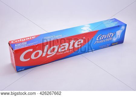 Manila, Ph - July 9 - Colgate Cavity Protection Toothpaste On July 9, 2021 In Manila, Philippines.