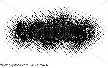 Abstract Grunge Black Halfton, Design Flat Style Vector Illustration, Isolated On White.
