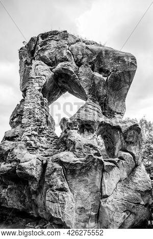 Rotstejn Castle Ruins As A Part Of Sandstone Rock Formation, Bohemian Paradise, Czech: Cesky Raj, Cz