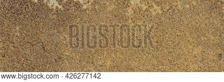Panorama Of Metal Rusty Texture Background Rust Steel. Industrial Metal Texture. Grunge Rusted Metal