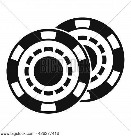 Casino Chips Icon Simple Vector. Poker Game. Gambling Vegas Chips
