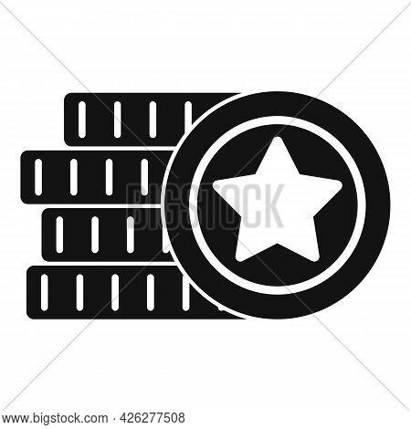 Jackpot Token Icon Simple Vector. Casino Poker. Chip Blackjack