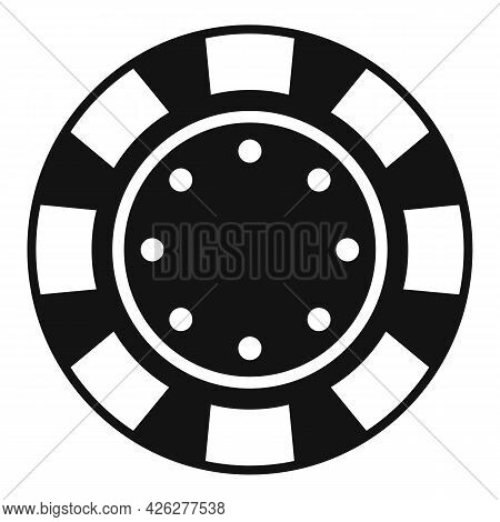 Casino Chip Icon Simple Vector. Poker Game. Bet Gamling Stack