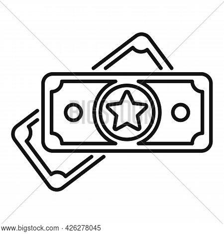Token Money Icon Outline Vector. Reward Blockchain. Give Token Money